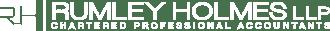 Rumley Holmes logo white